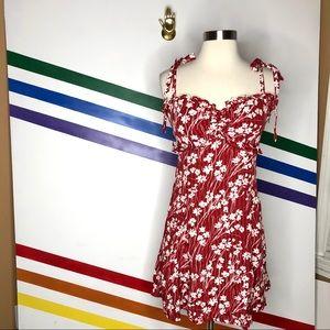 NEW Free People floral tie shoulder mini dress